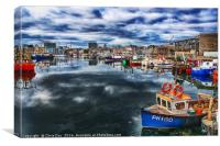 Sutton Harbour Plymouth, Canvas Print