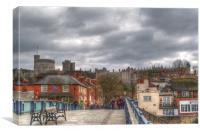 Windsor Castle from Eton Bridge, Canvas Print