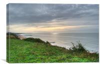 Dorset sun rising, Canvas Print