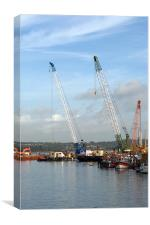 Poole Docks, Canvas Print