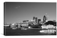 City of London Skyline in Black and white, Canvas Print