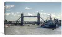Tower Bridge and HMS Belfast 3, Canvas Print