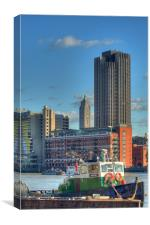 The Oxo Tower 9, Canvas Print