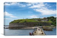 The Nothe Fort , Canvas Print