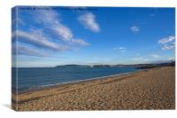 Weymouth Beach, Canvas Print
