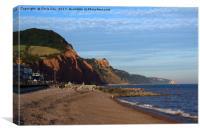 Sidmouth Beach, Canvas Print
