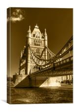Tower Bridge in Sepia, Canvas Print