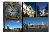 London Scenes Collage, Canvas Print