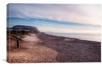 Hengistbury Head and Beach, Canvas Print