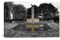 Polish War Memorial Isolation 2, Canvas Print