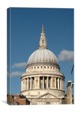 St Pauls Cathedral from the South, Canvas Print