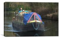 Narrowboat, Canvas Print