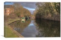Grand Union Canal Rickmansworth, Canvas Print