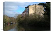 Grand Union canal building, Canvas Print