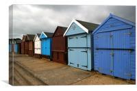 Highcliffe huts 3, Canvas Print