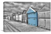 Beach Hut in isolation, Canvas Print