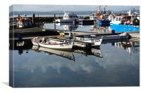 Working Boats, Canvas Print