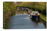 Canal Craft, Canvas Print