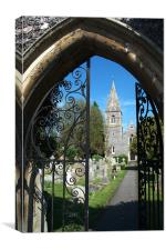 St Peters Marlow, Canvas Print