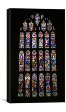 Christchurch Priory West Window, Canvas Print