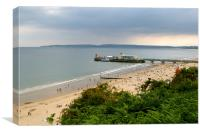 Bournemouth Pier and Beach, Canvas Print