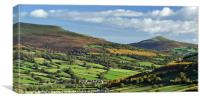 Sugarloaf, Pen Cerrig Calch and Table Mountain., Canvas Print