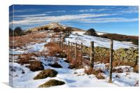 Winter on the Sugarloaf mountain, Abergavenny, Canvas Print