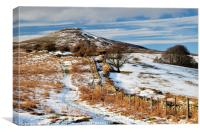 Sugarloaf Mountain with a light dusting of snow., Canvas Print