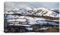 Tor Y Foel, Allt Lwyd and Twyn Du in Winter., Canvas Print