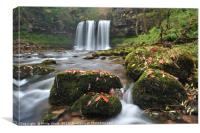 Sgwd Yr Eira on the Afon Hepste in late autumn., Canvas Print