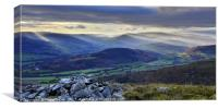 Gateway to the Brecon Beacons., Canvas Print