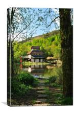 Pagoda at the Festival Park in Ebbw Vale, Gwent., Canvas Print