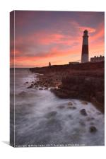 Portland Bill Lighthouse at Sunset 2., Canvas Print