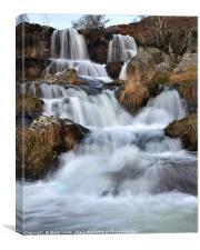 Waterfalls on the Nant Gwynllyn, near Rhayader 2., Canvas Print