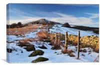 Winter on the Sugarloaf mountain, Abergavenny 2, Canvas Print