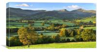 The Brecon Beacons in early autumn., Canvas Print