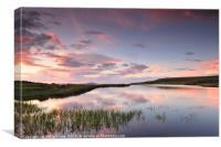 Sunset, The Keepers Pond, Blaenavon., Canvas Print