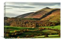 Skiddaw, The Lake District., Canvas Print