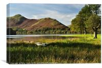 Old Rowing Boat Derwent Water, The Lake District., Canvas Print