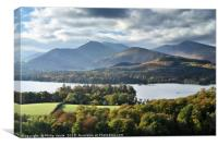 Grisdale Pike and Derwent Water in Autumn., Canvas Print
