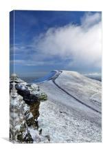 Pen y Fan in winter, Brecon Beacons National Park., Canvas Print