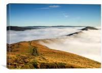 Inversion at Mam Tor, Canvas Print
