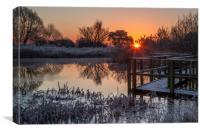 Sunrise over the pond, Canvas Print