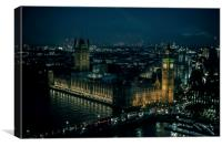 The Houses of Parliament at night, Canvas Print