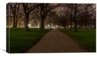 St. James' Park at night, Canvas Print