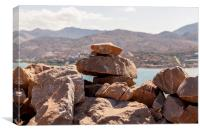 Rocks on Spinalonga, Canvas Print