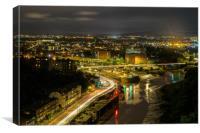 Bristol at Night, Canvas Print