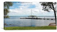 Murrays Beach Jetty, Lake Macquarie., Canvas Print