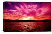 Spectacular Pink Orange Violet Ocean Sunset. Austr, Canvas Print