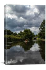 River Aire rower, Canvas Print